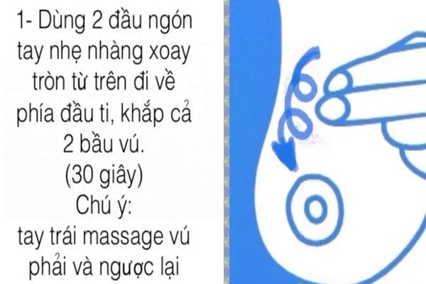 Massage ngực giúp khắc phục việc mất sữa, kích thích tuyến sữa tại ngực hoạt động