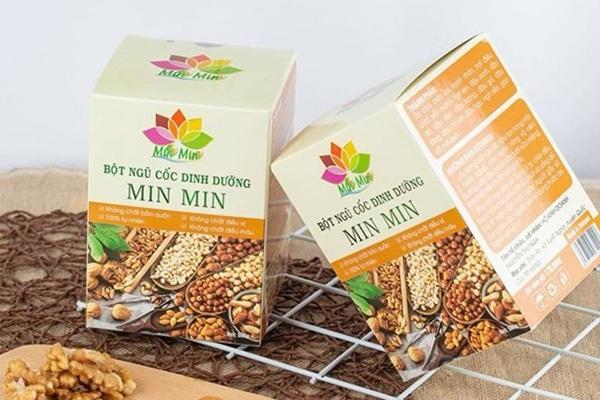 Bột ngũ cốc Min Min chứa nhiều thành phần dinh dưỡng cao