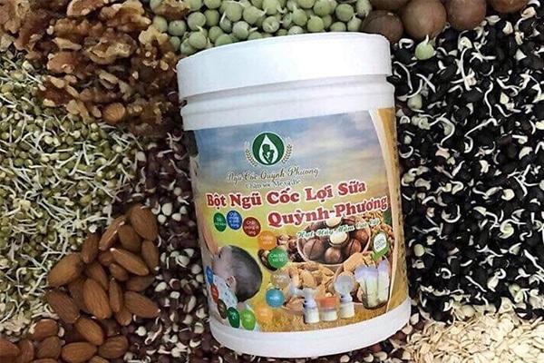 Bột ngũ cốc Quỳnh Phương giúp lợi sữa cho mẹ sau sinh