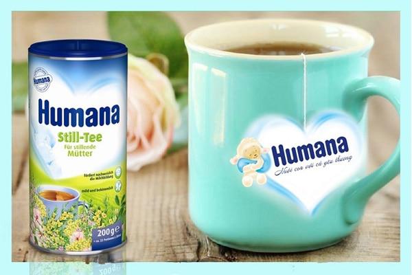 Uống trà lợi sữa Humana Still Tee giúp các mẹ tránh được trầm cảm sau sinh