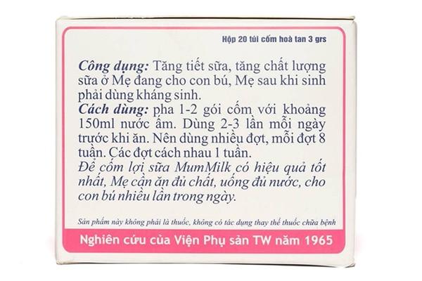 Hướng dẫn sử dụng cốm lợi sữa Mummilk