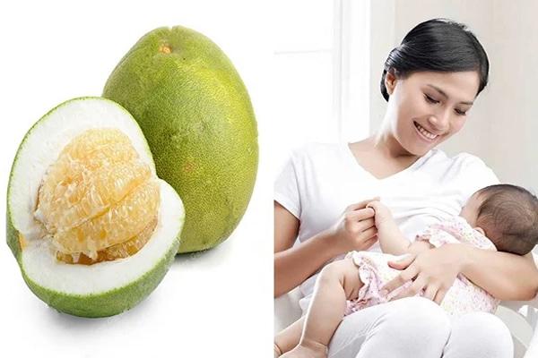 Thành phần dinh dưỡng của quả bưởi có nhiều Vitamin C rất tốt cho phụ nữ sau sinh