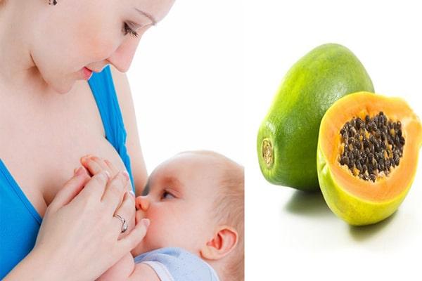 Quả đu đủ có hàm lượng dinh dưỡng cao, giàu vitamin và khoáng chất cho mẹ sau sinh