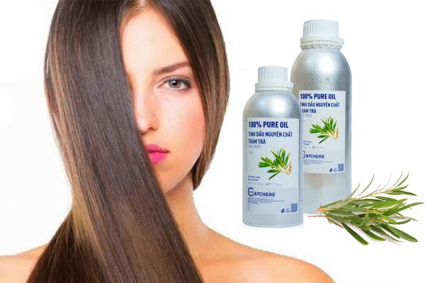 Sử dụng tinh dầu tràm trà gội đầu giúp trị gàu và phục hồi tóc hư tổn