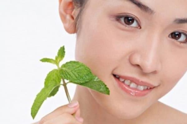 Trong tinh dầu bạc hà có hoạt chất methol tự nhiên giúp trị mụn và giảm dị ứng da rất tốt