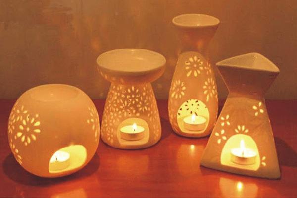 Đèn đốt tinh dầu bằng nến