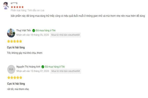 Một số feedback của khách hàng về sản phẩm