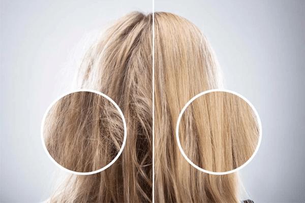 Sử dụng tinh dầu dừa gấc giúp tóc óng mượt