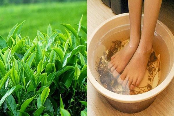 Dùng chè xanh để khử mùi hôi của chân