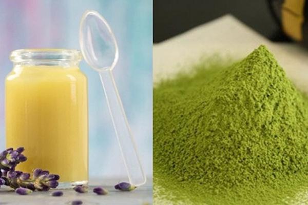 Trộn sữa ong chúa và trà xanh làm mặt nạ trị mụn, sáng da, chống lão hóa
