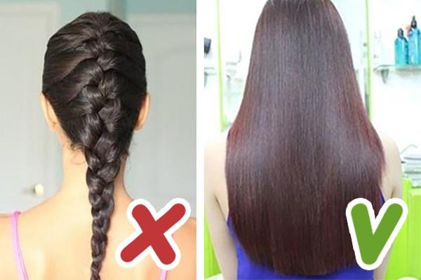 Khi bị rụng tóc nhiều bạn nên hạn chế buộc tóc hoặc tạo kiểu cho tóc