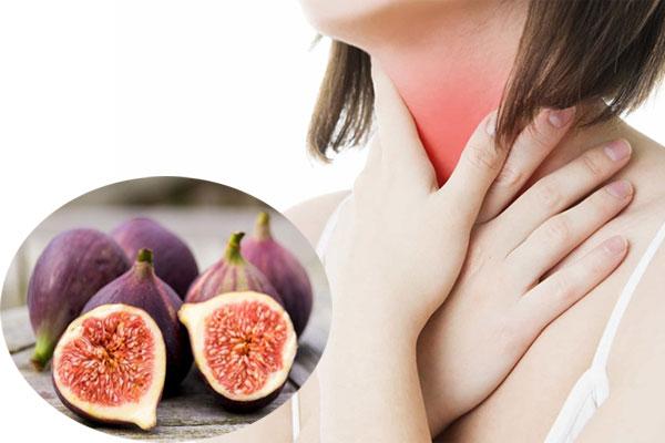 Uống nước chiết xuất từ quả sung giúp chữa viêm họng