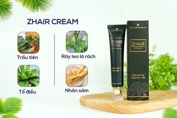 Sản phẩm kích thích mọc tóc Zhair Cream