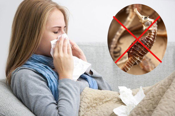 Người bệnh đang có dấu hiệu cảm cúm, sốt tuyệt đối không sử dụng nếu không sẽ khiến bệnh nặng hơn.