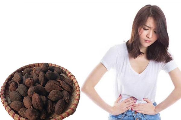 Thảo quả còn có tác dụng điều trị chứng đầy hơi chướng bụng, tiêu hóa kém