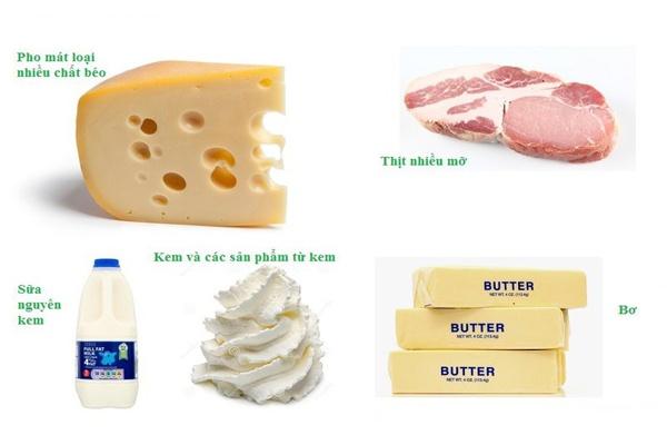 Người bị rụng tóc nên hạn chế ăn các thực phẩm chứa nhiều chất béo