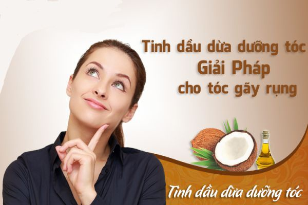 Cách trị rụng tóc bằng dầu dừa