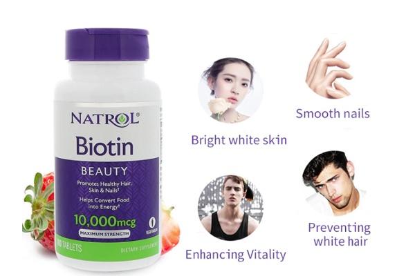 Thực phẩm chức năng mọc tóc Biotin Natrol