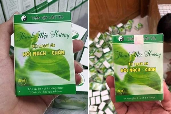 Thuốc trị hôi nách Thanh Mộc Hương được bán rộng rãi trên thị trường