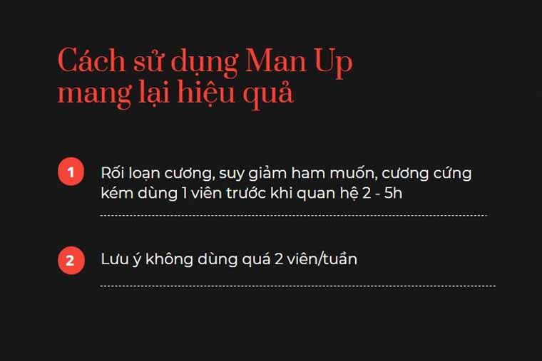 Cách sử dụng man up