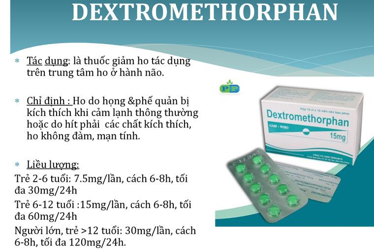 Thuốc điều trị ho khan Dextromethophan
