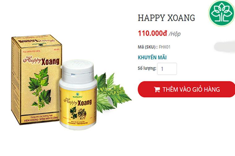 Giá bán tham khảo thuốc HP Xoang