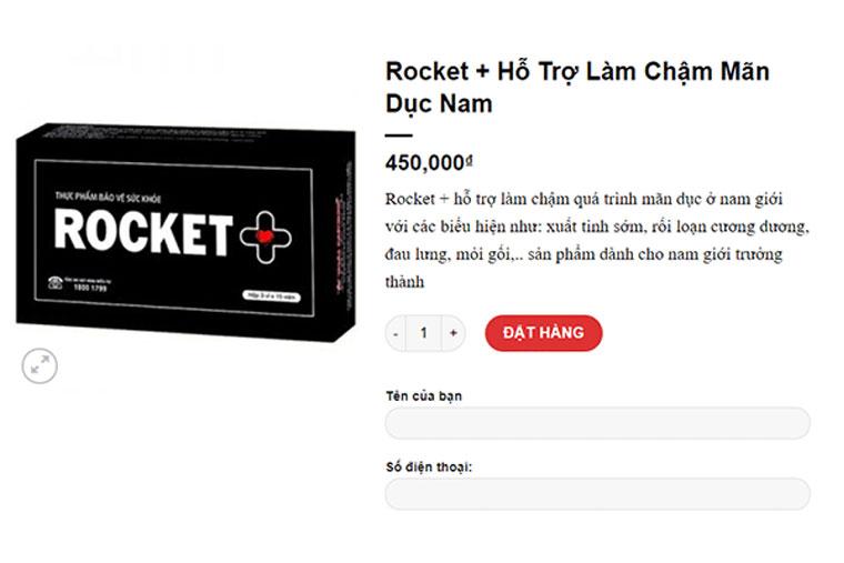 Giá rocket + trên thị trường hiện nay