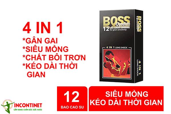 Bcs Boss 4 in 1 gân gai siêu mỏng
