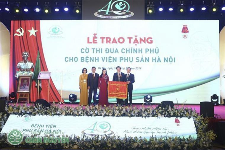 Năm 2018 bệnh viên phụ sản Hà nội nhận cờ thi đua chính phủ