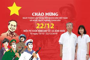 Chào mừng ngày thành lập quân đội nhân dân Việt Nam