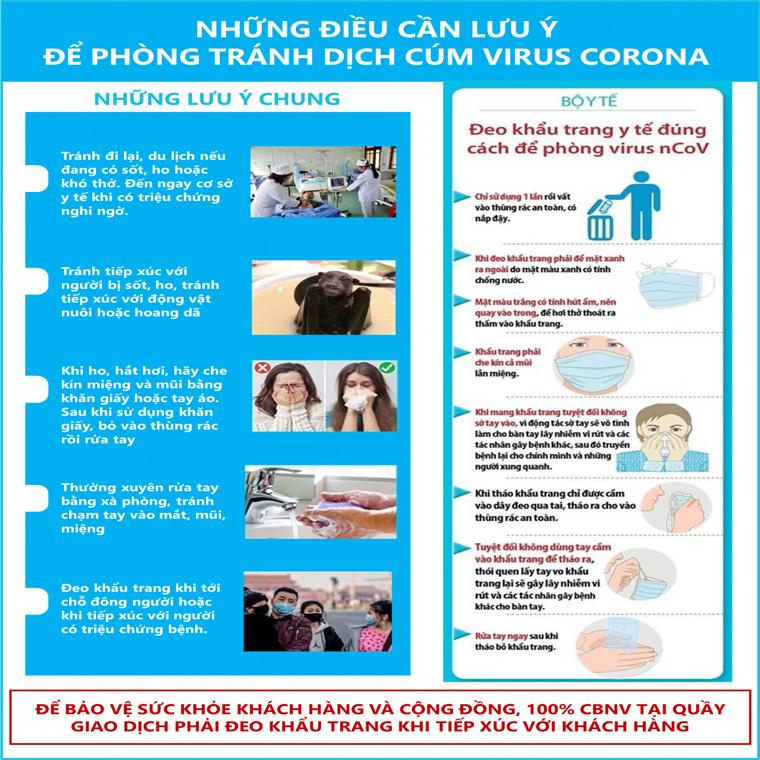 Những điều cần lưu ý để phòng tránh dịch cúm do virus corona