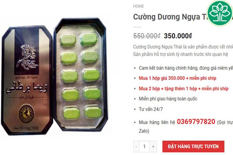 Giá bán thuốc ngựa thái xanh