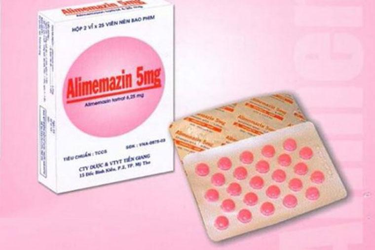 Thuốc điều trị ho khan Alimemazin